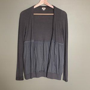 Aritzia Wilfred taupe thin cardigan top small